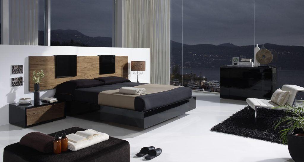 Cabeceira moderna para um quarto de casal fotos e imagens for Dormitorios minimalistas pequenos