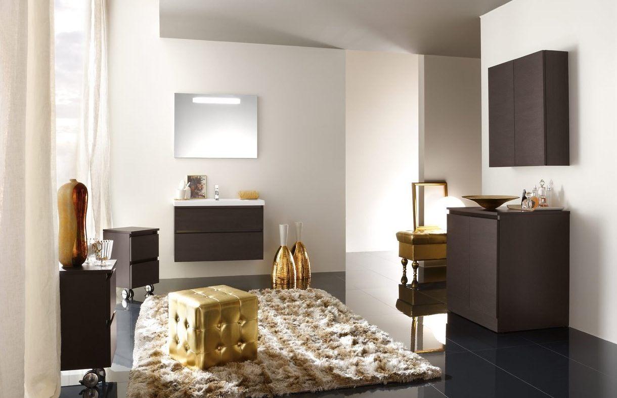 Casa de banho moderna de tons dourados fotos e imagens - Pitturare il bagno ...