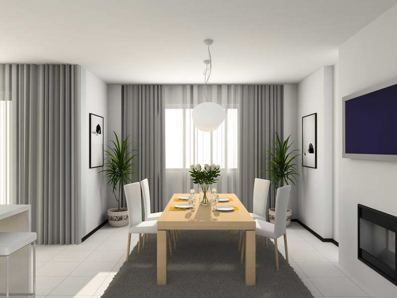 Cortinas para uma sala moderna fotos e imagens for Modelos de cortinas modernas