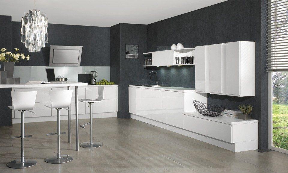 Cozinha minimalista moderna fotos e imagens Decoracion paredes cocinas modernas