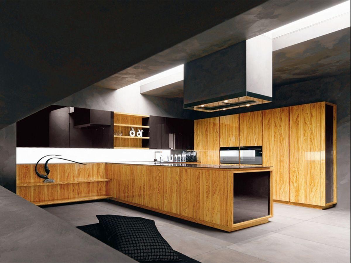 Cozinha Moderna De Madeira Natural Fotos E Imagens