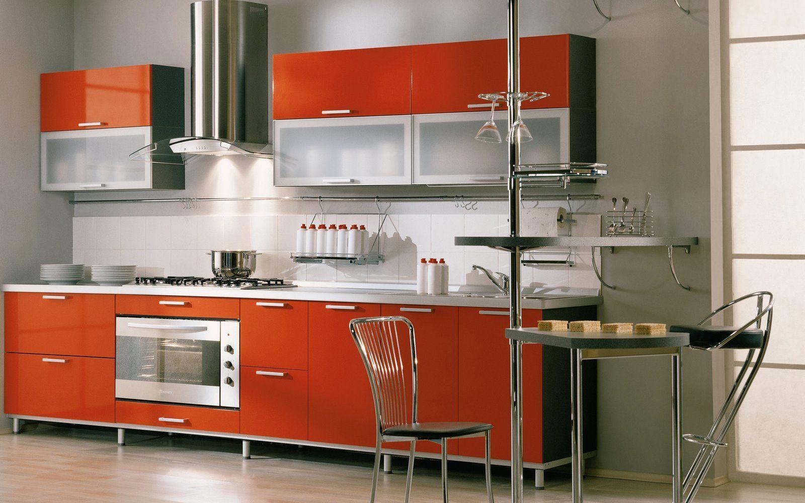 Cozinha Moderna De Tons Laranjas Fotos E Imagens