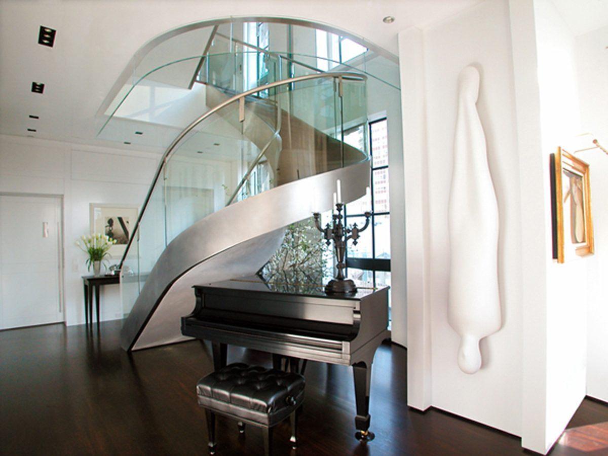 Escadas modernas de a o fotos e imagens for Casa moderna wallpaper