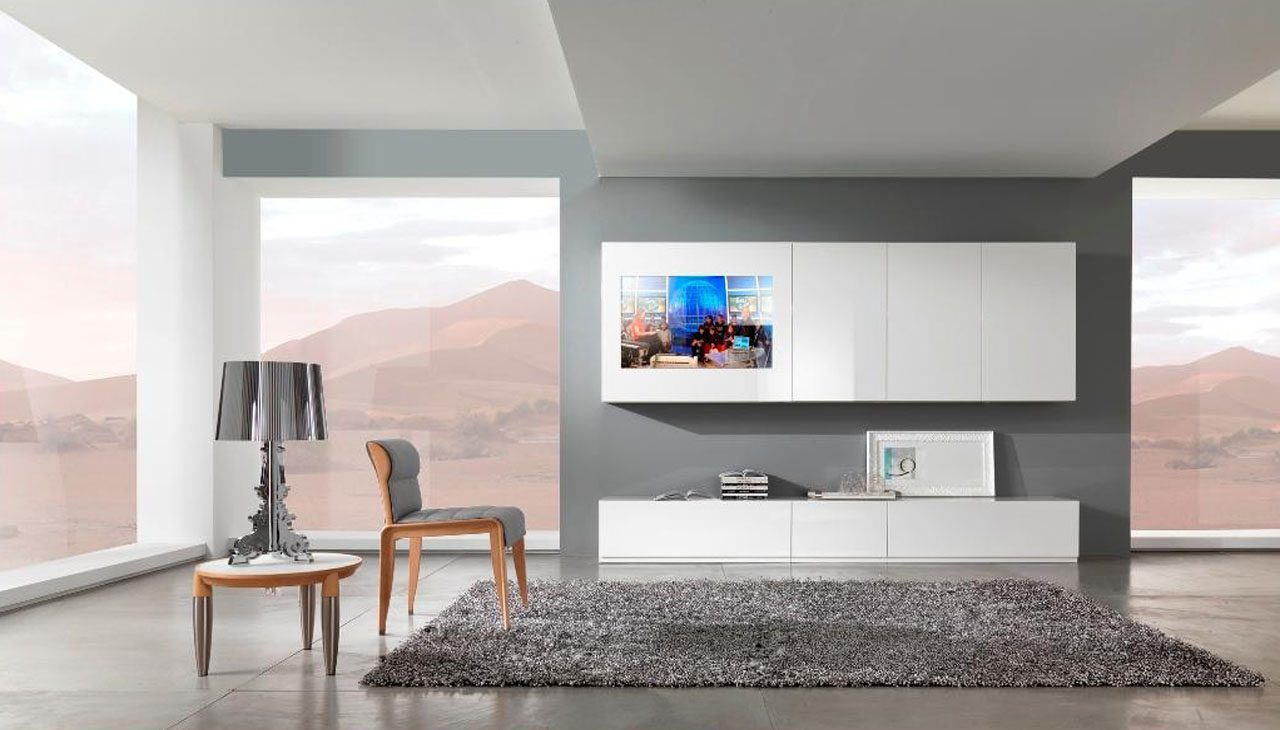 M veis modernos para a sala - Gestaltungsideen wohnzimmer ...