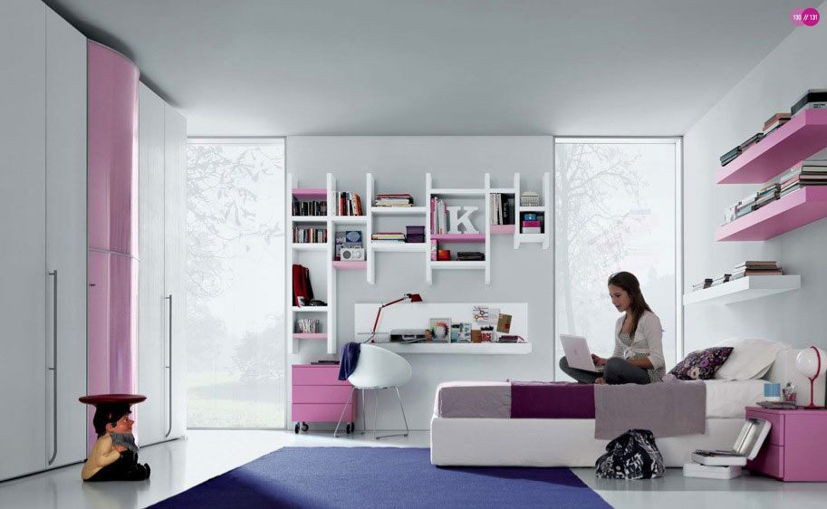 quarto para adolescentes modernos fotos e imagens. Black Bedroom Furniture Sets. Home Design Ideas