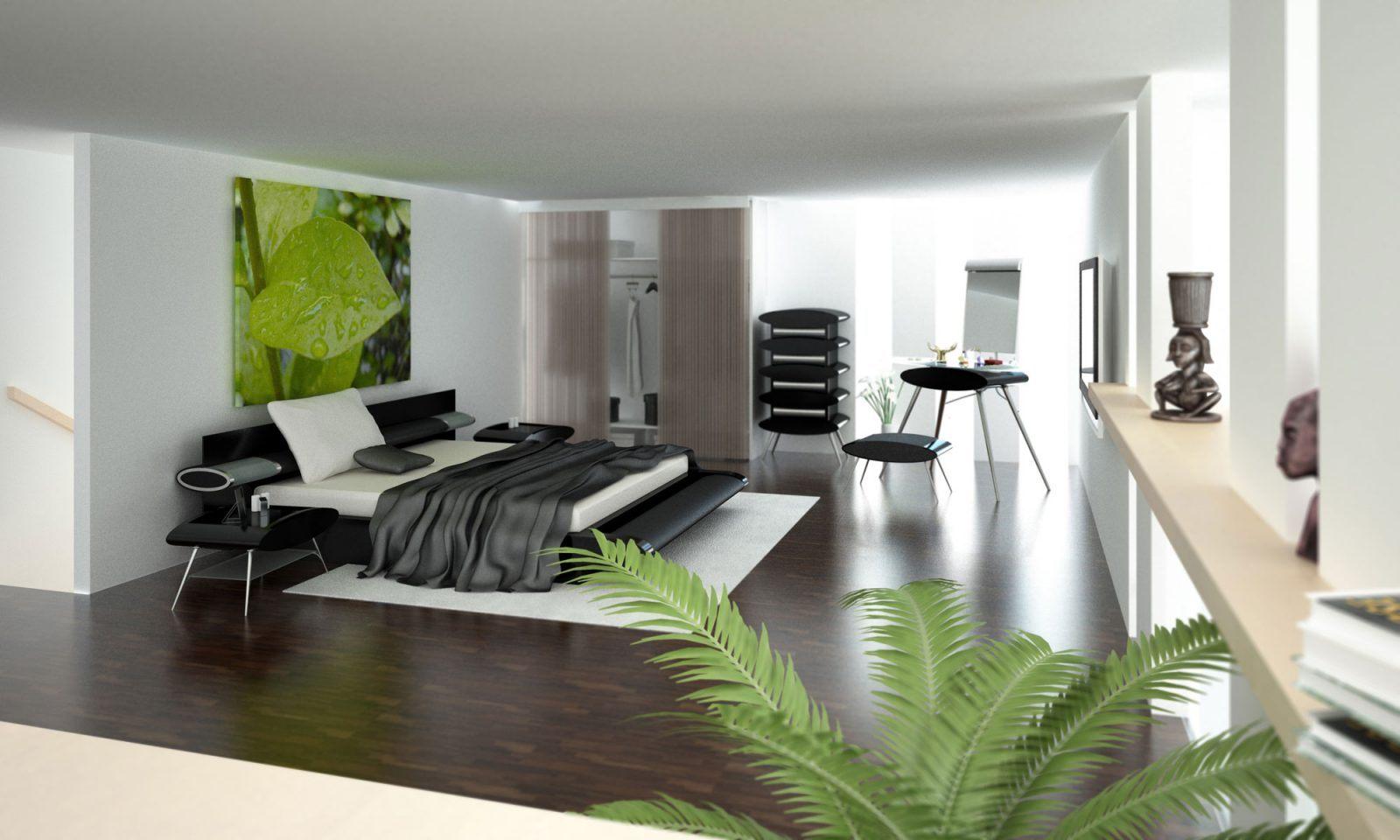 Quartos modernos minimalistas fotos e imagens for Casa moderna 3 habitaciones