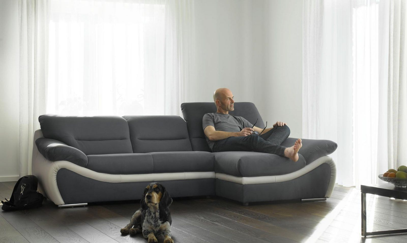 Sof chaise longue contempor neo fotos e imagens for Sofa con chaise longue