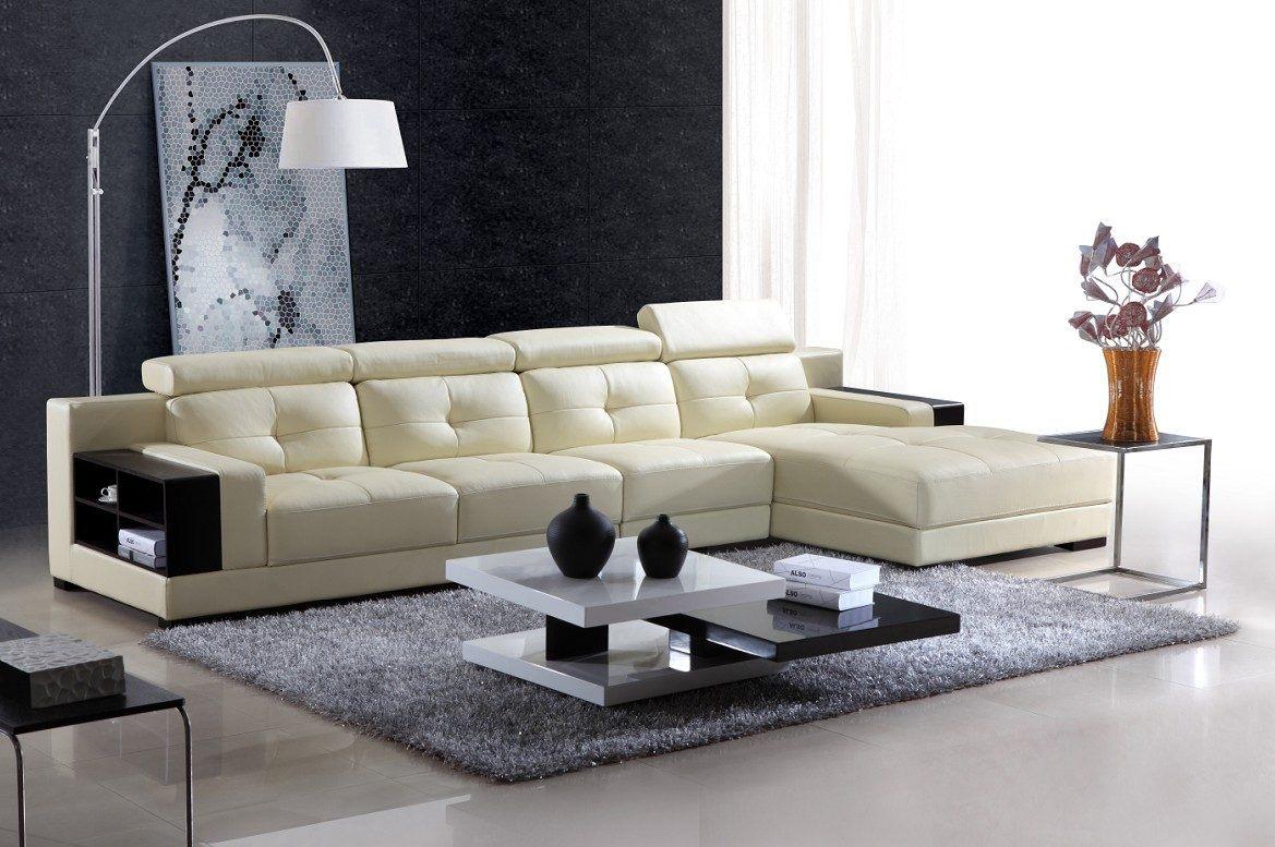 Sof chaise longue de couro branco moderno fotos e imagens for Comedores de piel