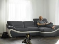 Sofá chaise longue contemporâneo